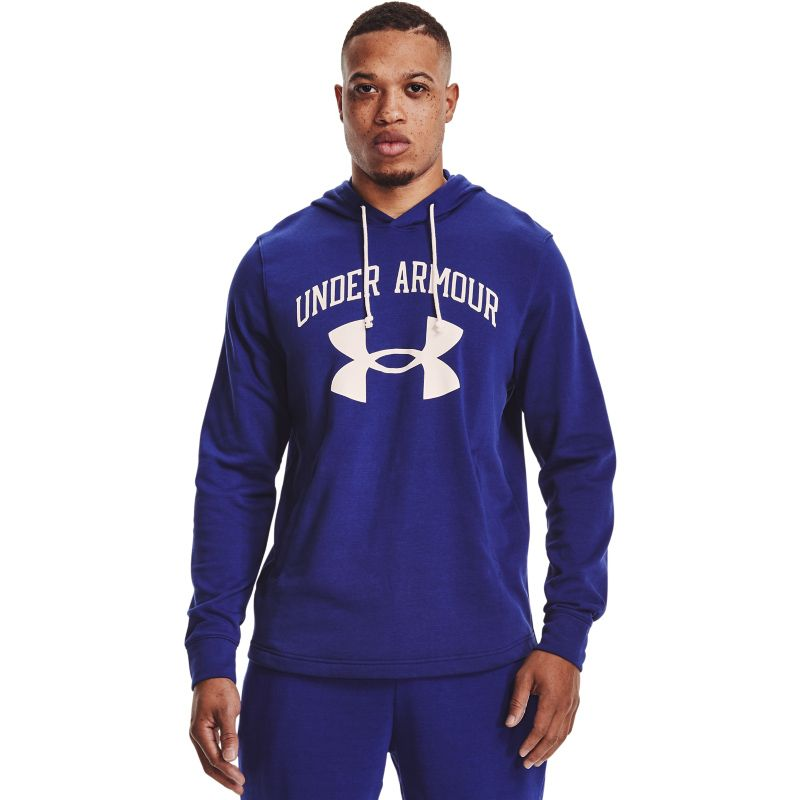 Blue Under Armour men's hoodie with pocket from O'Neills.