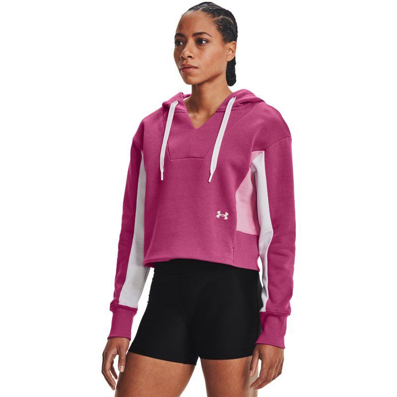 Under Armour Women's UA Rival Fleece EMB Hoodie Pink Quartz / Planet Pink / Metallic Silver