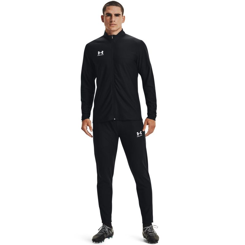 Black Under Armour men's tracksuit with jogger and full zip jacket from O'Neills.