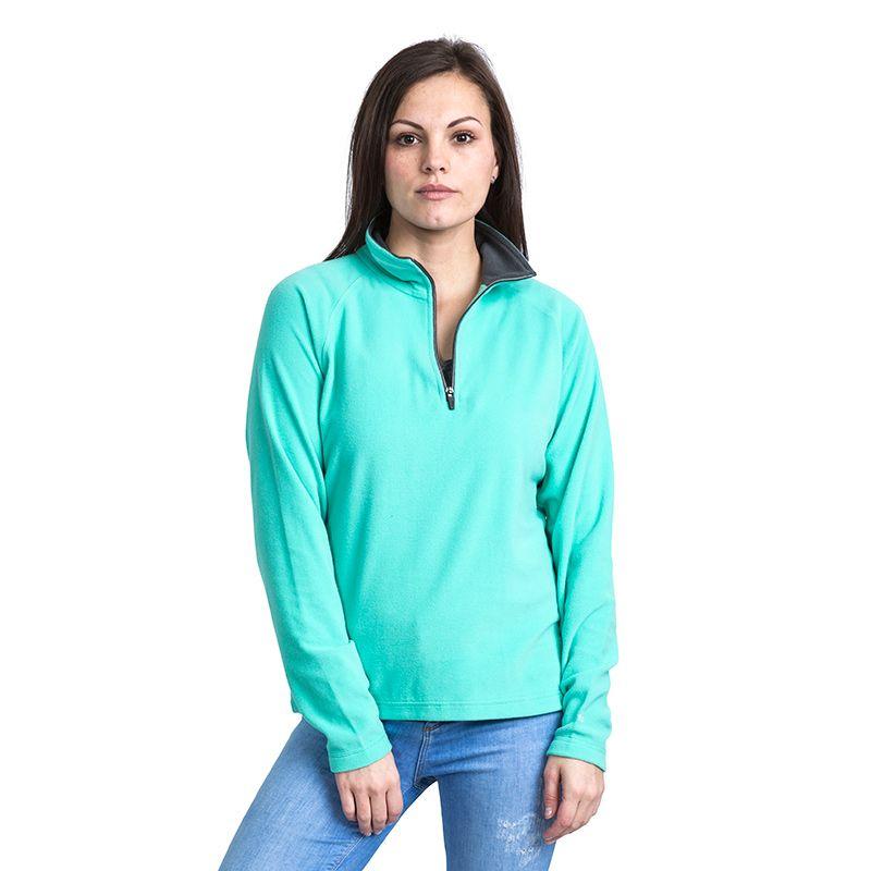 Trespass Women's Skylar Half Zip Fleece Aquamarine
