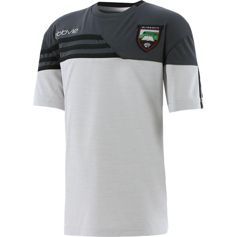 Sligo GAA Kids' Nevis T-Shirt White / Dark Grey / White