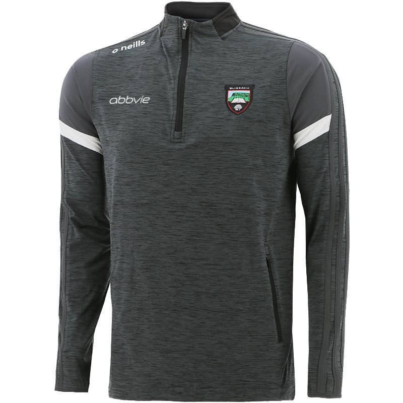 Sligo GAA Kids' Portland Brushed Half Zip Top Black / Dark Grey / White