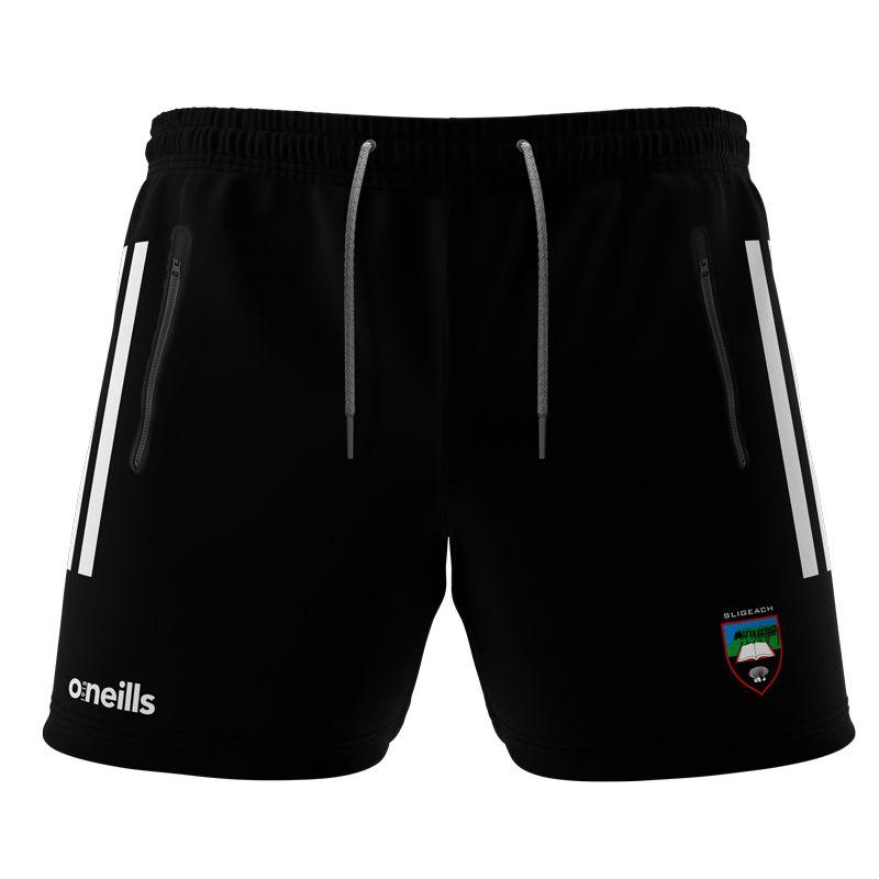Sligo GAA Kids' Voyager Shorts  Black / White / Dark Grey