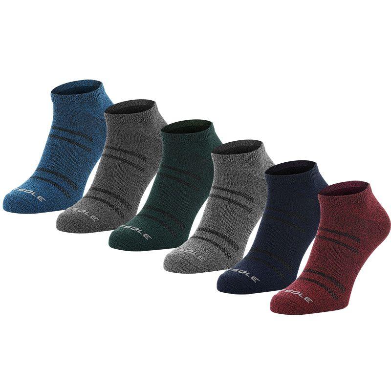 Sof Sole Men's All-Sport Light 6 Pack Socks Marl Solids