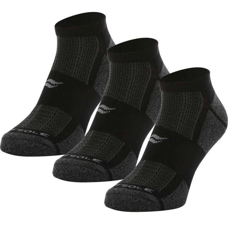 Sof Sole Men's Multi-Sport Cushion 3 Pack Socks Marl Black