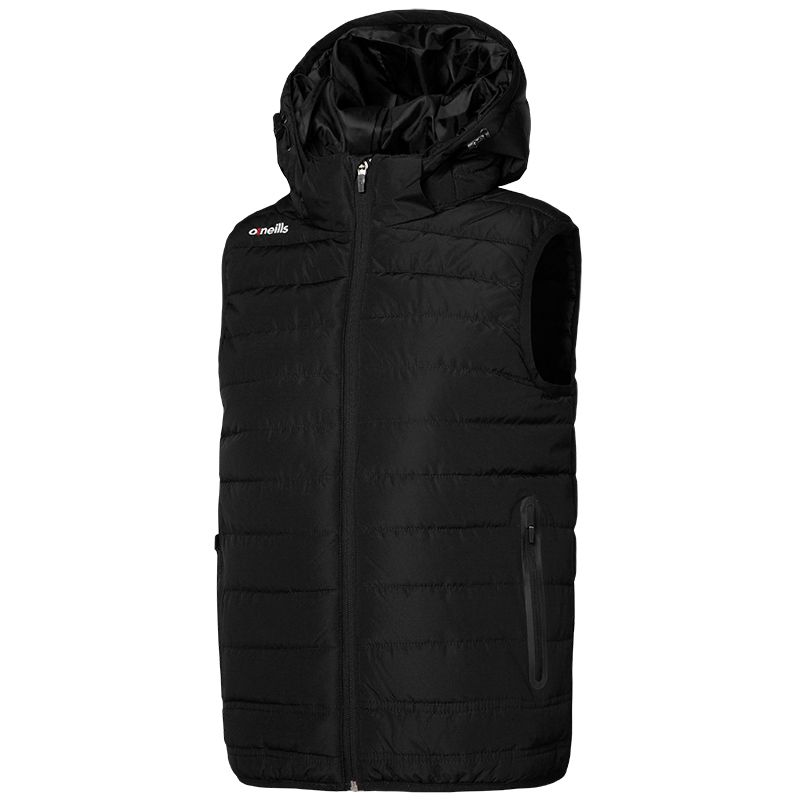 Women's Solar Hooded Padded Gilet Black