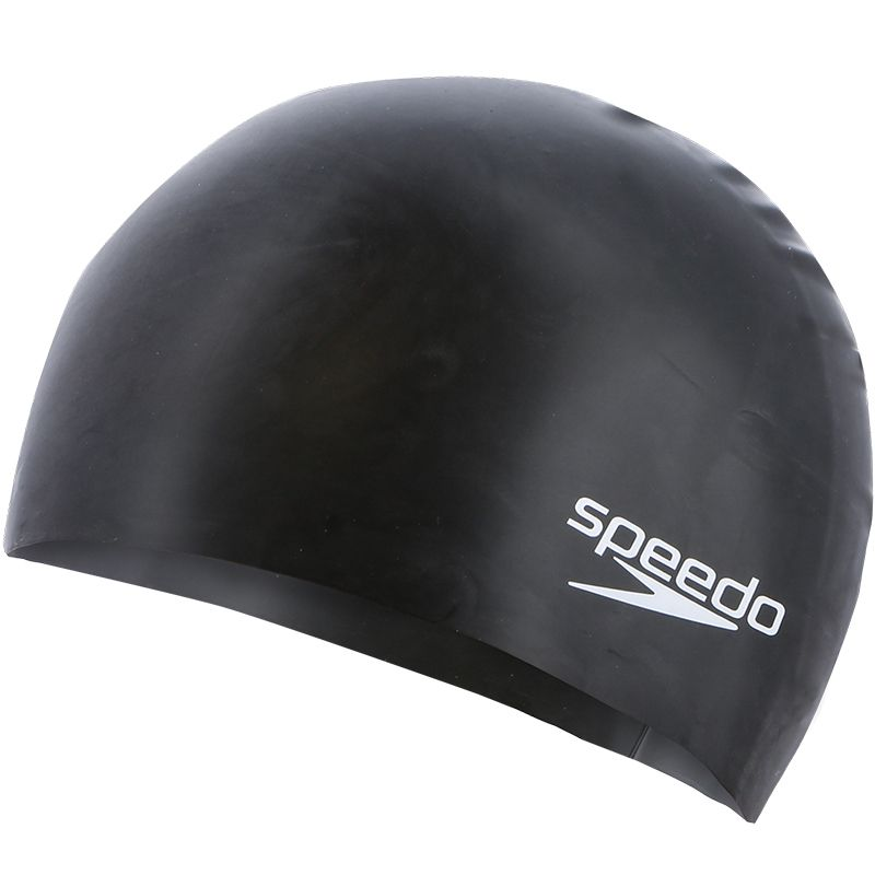 Speedo Moulded Silicone Junior Swim Cap Black / White