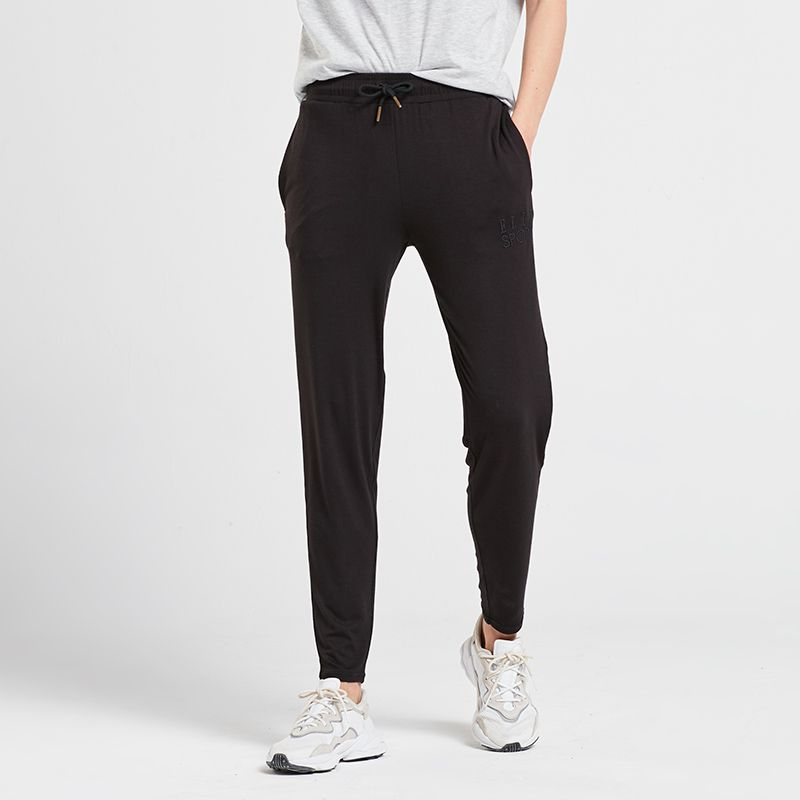 Black Elle Sport women's jogger bottoms with elasticated waistband from O'Neills.