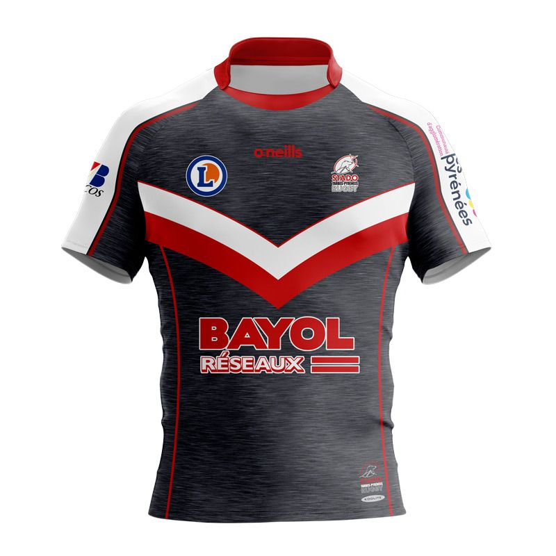 Stado Tarbes Pyrénees Rugby Rugby Match Tight Fit Jersey