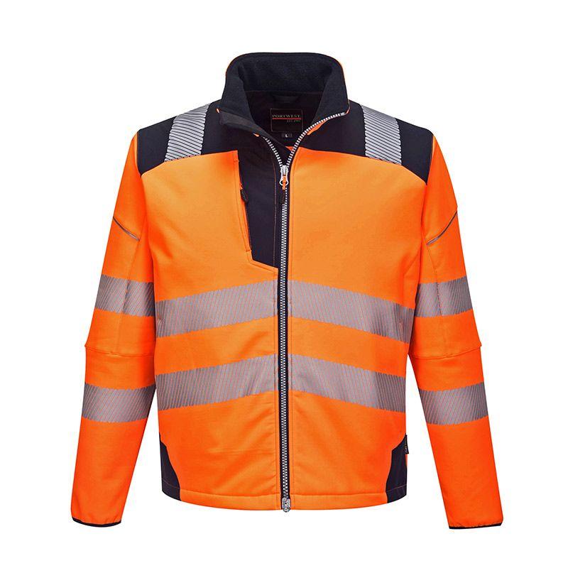 Portwest Men's PW3 Hi-Vis Softshell Jacket Orange / Navy