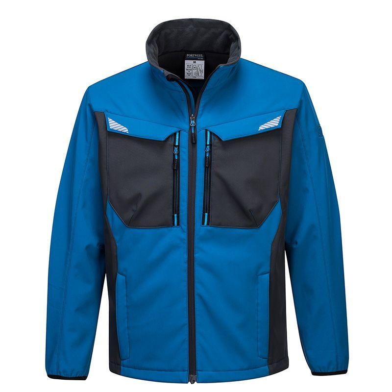 Portwest Men's WX3 Softshell Jacket Blue