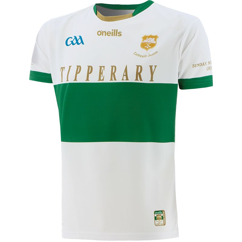 Tipperary GAA Player Fit Commemoration Jersey White