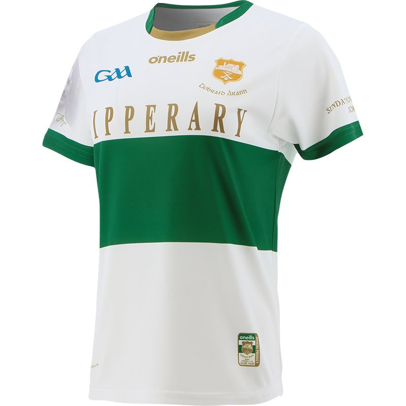 Tipperary GAA Women's Fit Commemoration Jersey White
