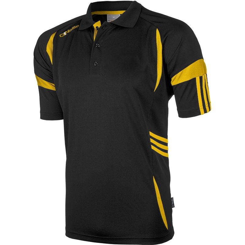 Kids' Troy Polo Shirt Black / Amber