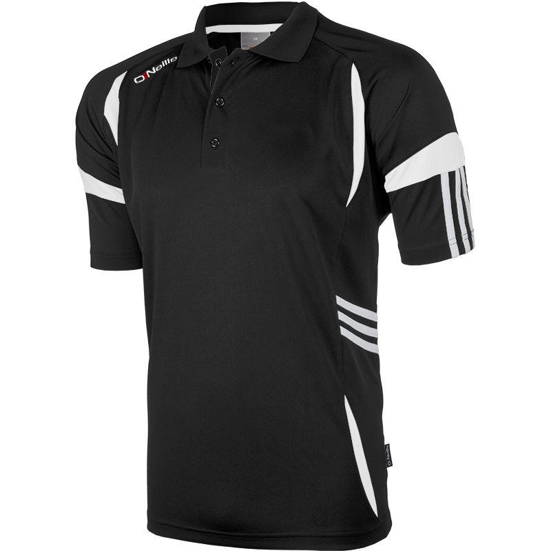 Kids' Troy Polo Shirt Black / White
