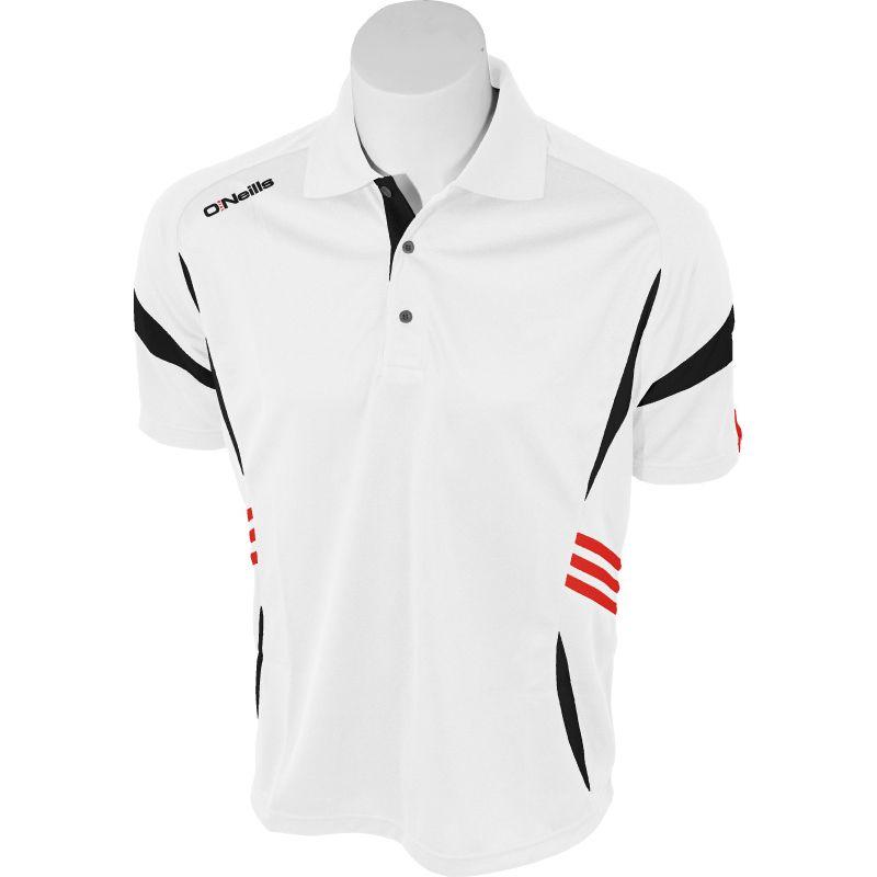 Kids' Troy Polo Shirt White / Black / Red