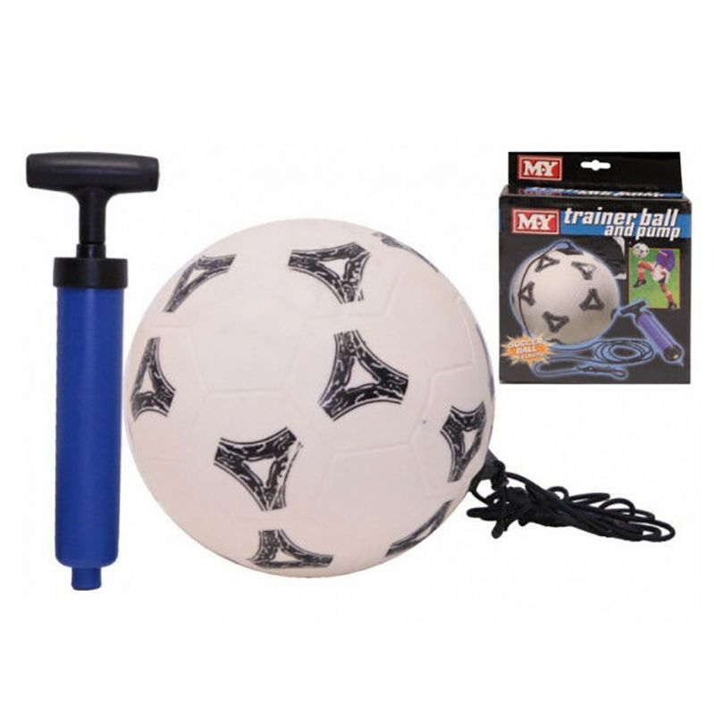 M.Y Elastic Trainer Ball and Pump White