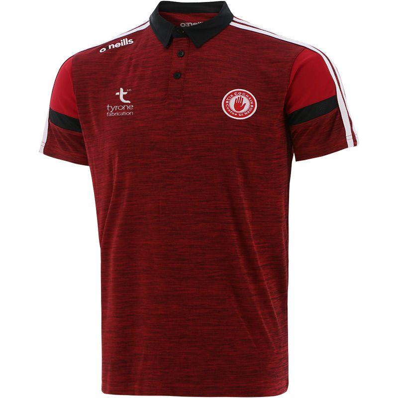 Tyrone GAA Men's Portland Polo Shirt Red / White