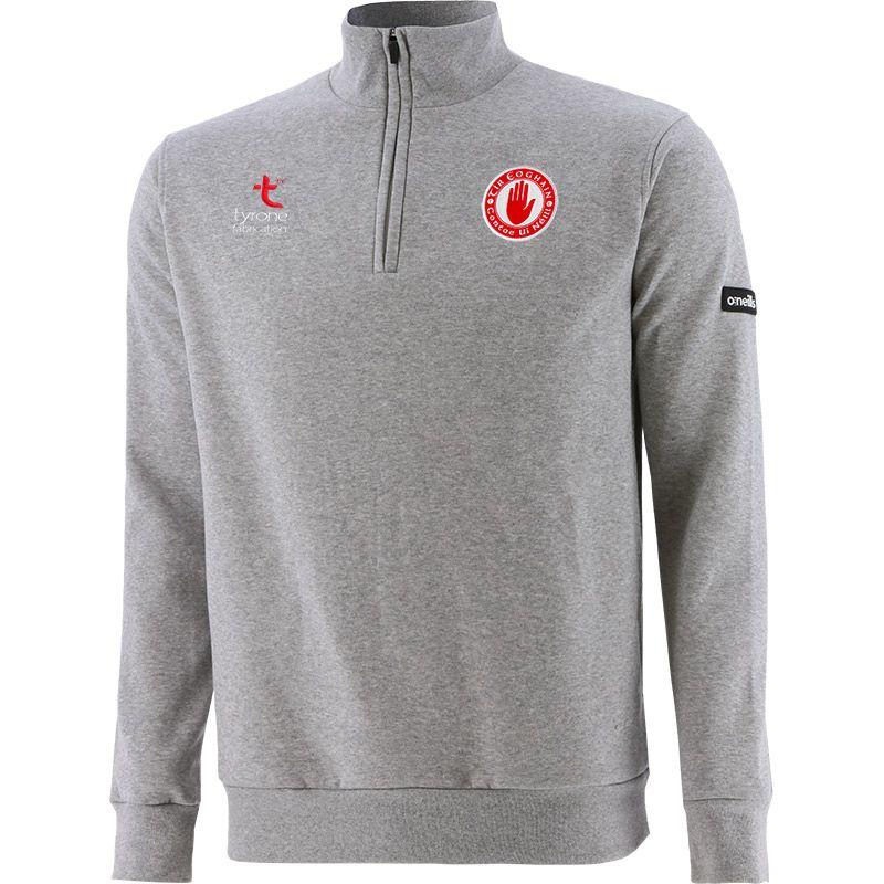 Tyrone GAA Men's Breaker Fleece Half Zip Top Grey / Silver