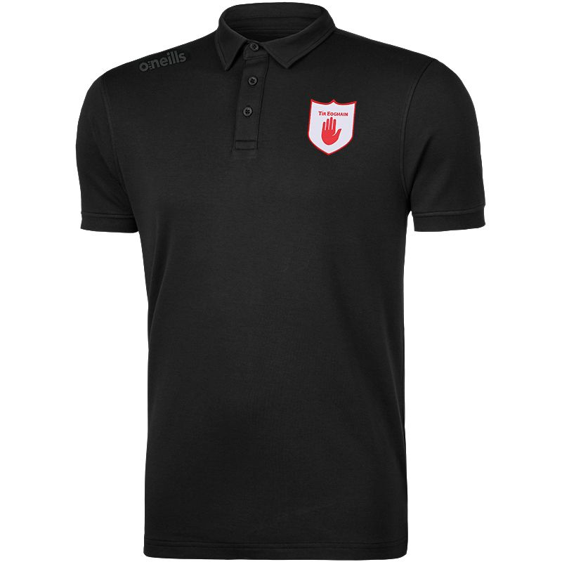 Tyrone GAA Men's Retro Pima Cotton Polo Black