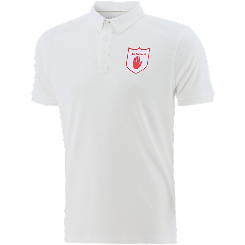Tyrone GAA Men's Retro Pima Cotton Polo White