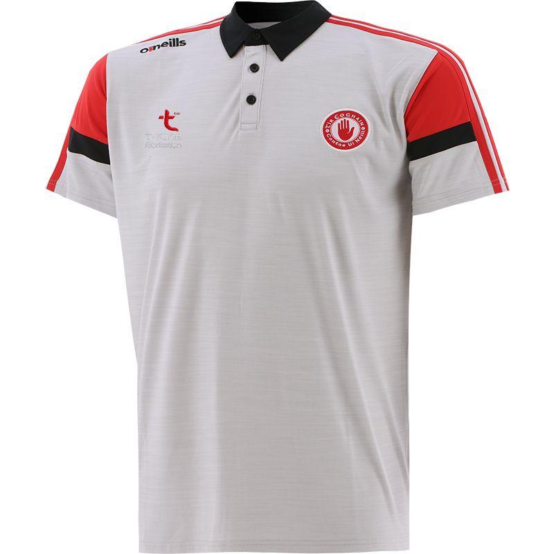 Tyrone GAA Men's Portland Polo Shirt White / Red / Black