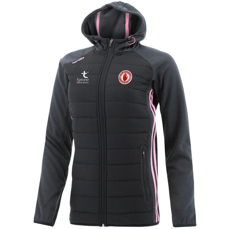 Tyrone GAA Women's Portland Light Weight Padded Jacket Black / Black / Pink
