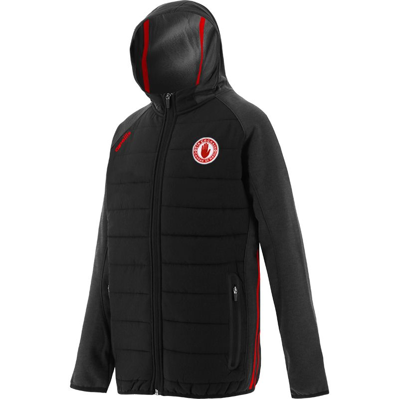 Tyrone GAA Kids' Portland Light Weight Padded Jacket Black / Red