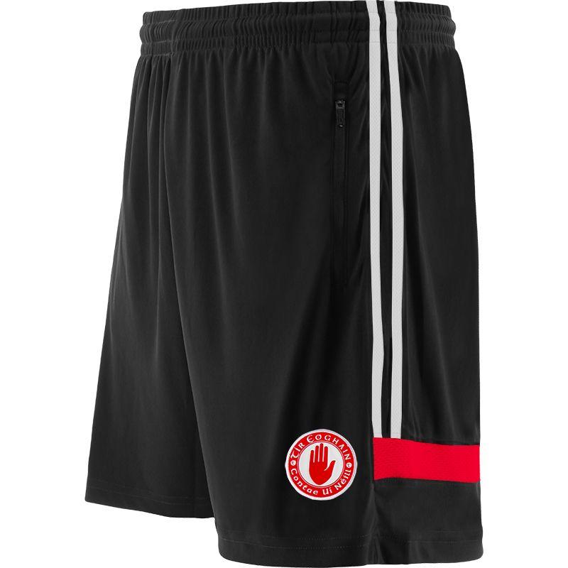 Tyrone GAA Kids' Portland Training Shorts Black / White / Red