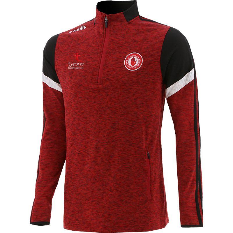 Tyrone GAA Men's Portland Brushed Half Zip Top Red / White / Black