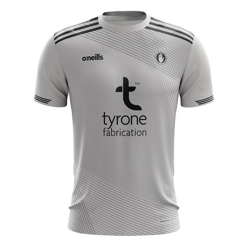 Tyrone GAA Kids' Short Sleeve Training Top Silver / Black