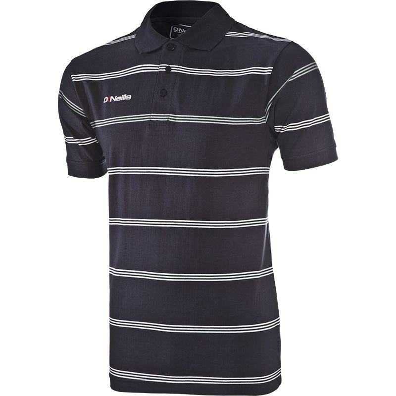 Men's Vista Striped Polo Shirt Marine / White