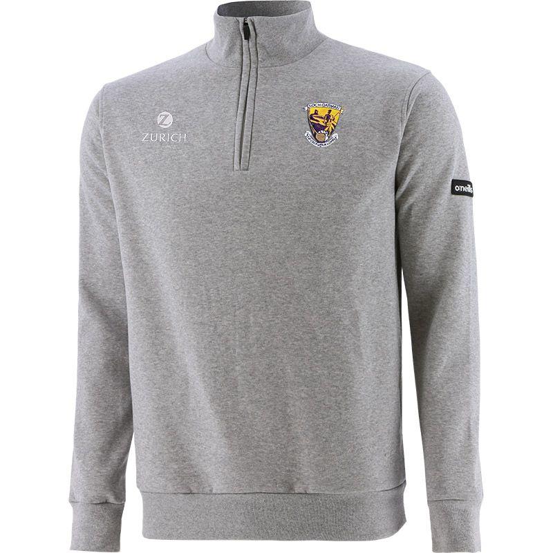 Wexford GAA Men's Breaker Fleece Half Zip Top Grey / Silver