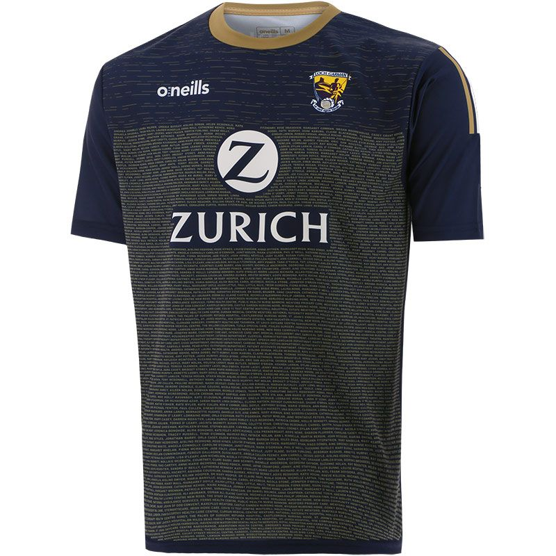 Wexford GAA Player Fit Short Sleeve Training Top Marine / Gold