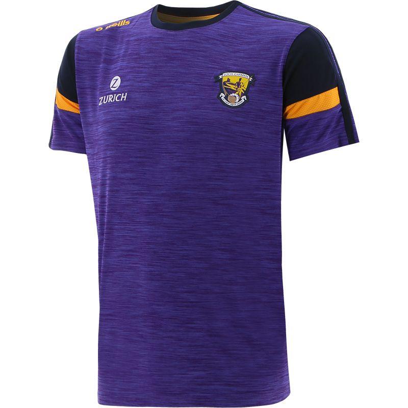Wexford GAA Kids' Portland T-Shirt Purple / Marine / Amber