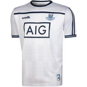 Dublin GAA Training 2-Stripe Short Sleeve Top (White)