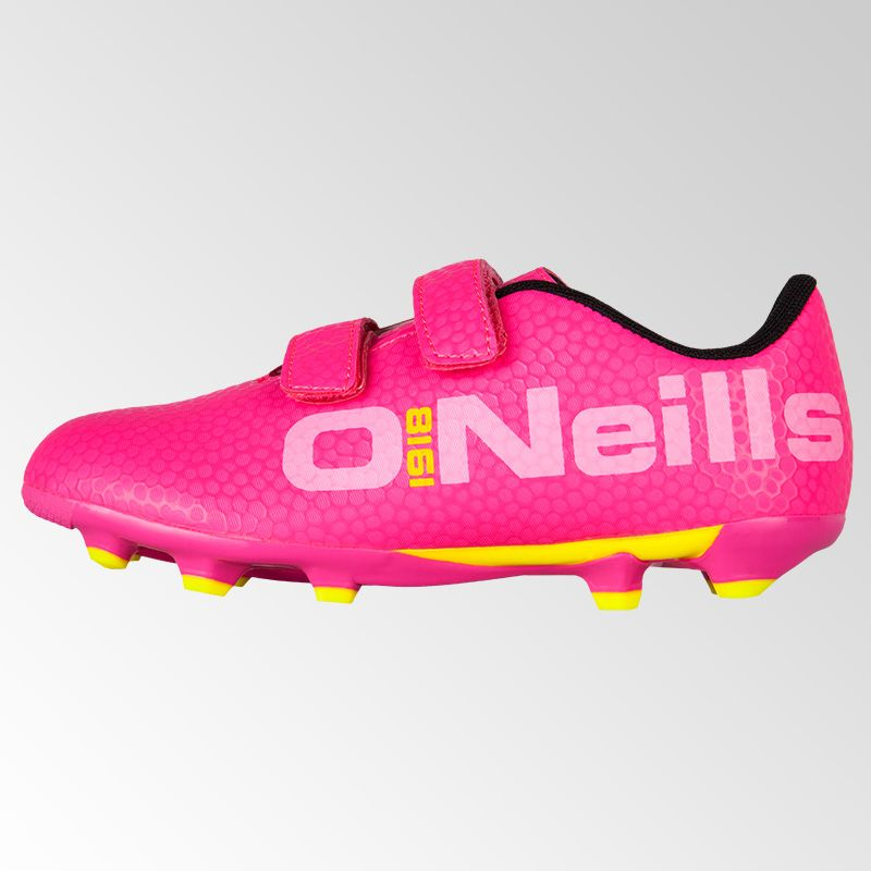 408277a3a62 Apollo Pre School Velcro Football Boots (Pink/Yellow) | oneills.com ...