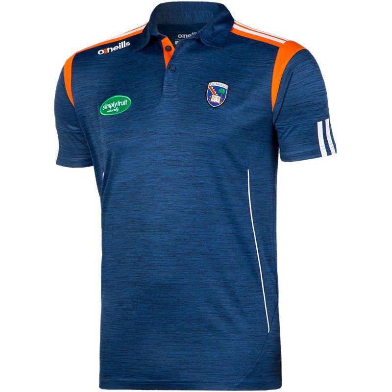 Armagh GAA Solar 2S Polo Shirt (Melange Tonal Marine