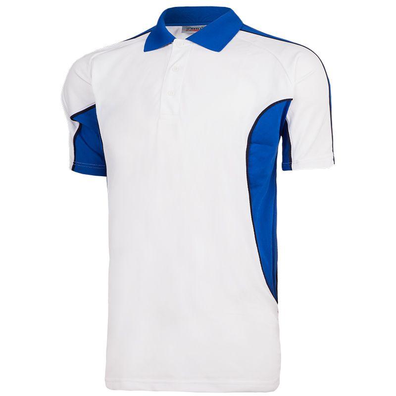 485249e5a Avery Polo Shirt (White/Royal/Navy)
