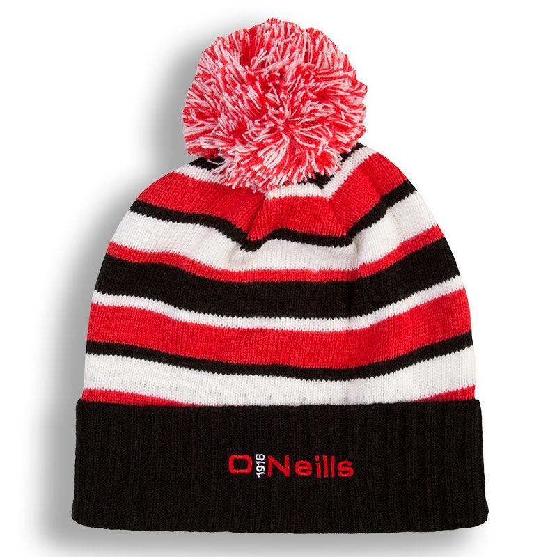 Beacon Bobble Hats (Black Red White) (Kids)  95218db5367