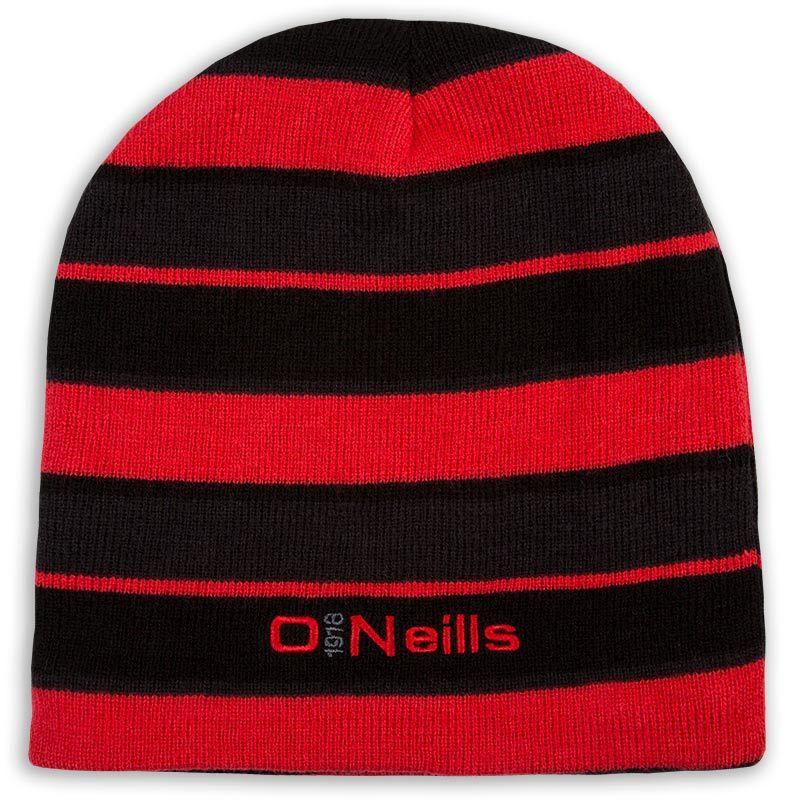 03f618cceda Beacon Beanie Hat (Black Grey Red)