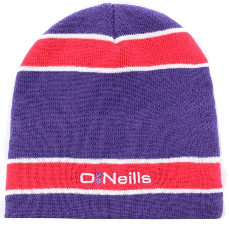 Marley Striped Beanie Hat (Purple Pink White)  8dac5a668bc