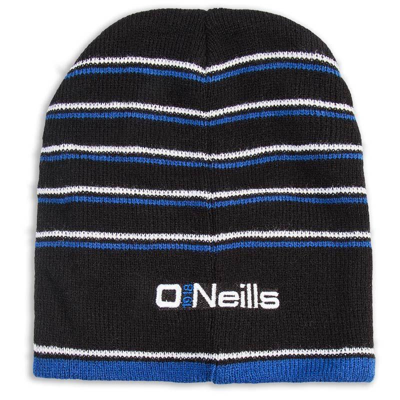 Striped Beanie Hat (Black White Royal) (Kids)  bee8f71e453