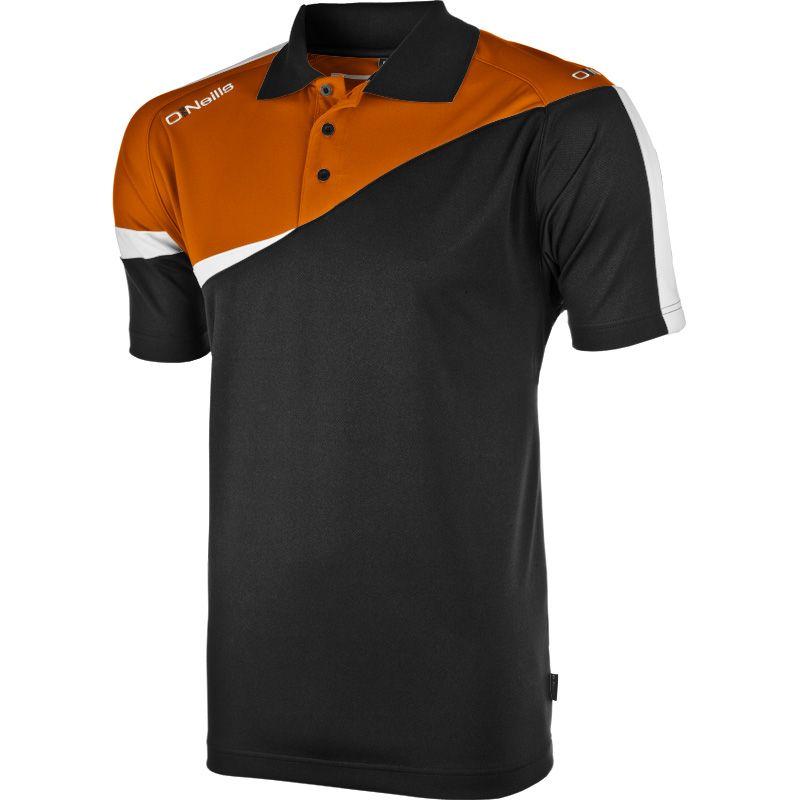 469698e2ff1386 Berne Polo Shirt (Black/Tangerine/White) (Kids) | oneills.com