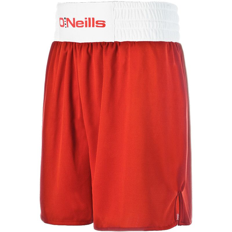 Knockout Boxing Shorts (Red/White)