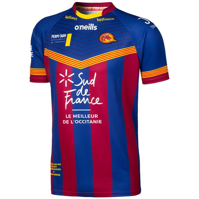 cc75cd330 Catalans Dragons Barcelona Replica Rugby Jersey