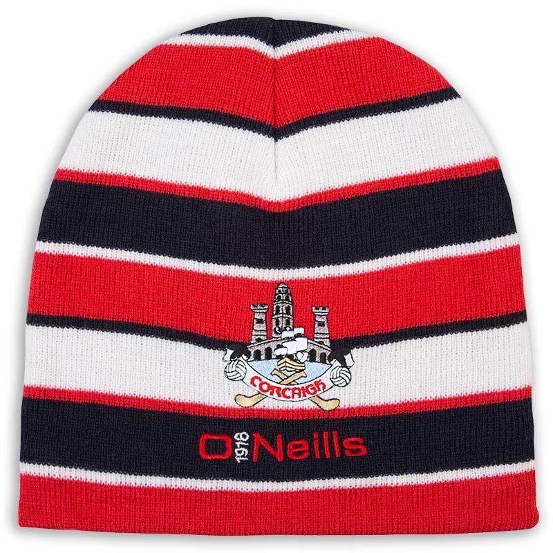 98e7e776af6 Cork GAA Beacon Beanie Hat (Marine Red White)