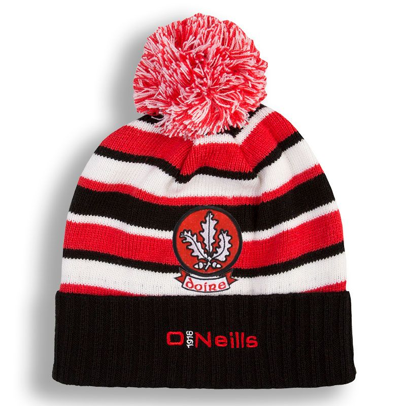 2ae1def55d5ee Derry GAA Beacon Bobble Hat (Black Red White)