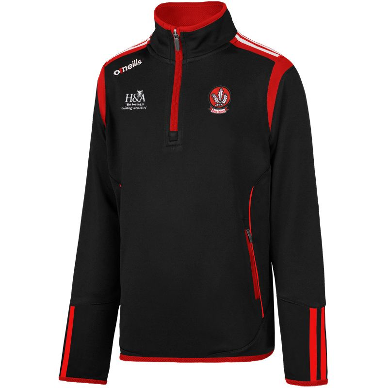 192d6c7a847 Derry GAA Solar 2S Half Zip Squad Top (Black/Red/White) (Kids) | oneills.com