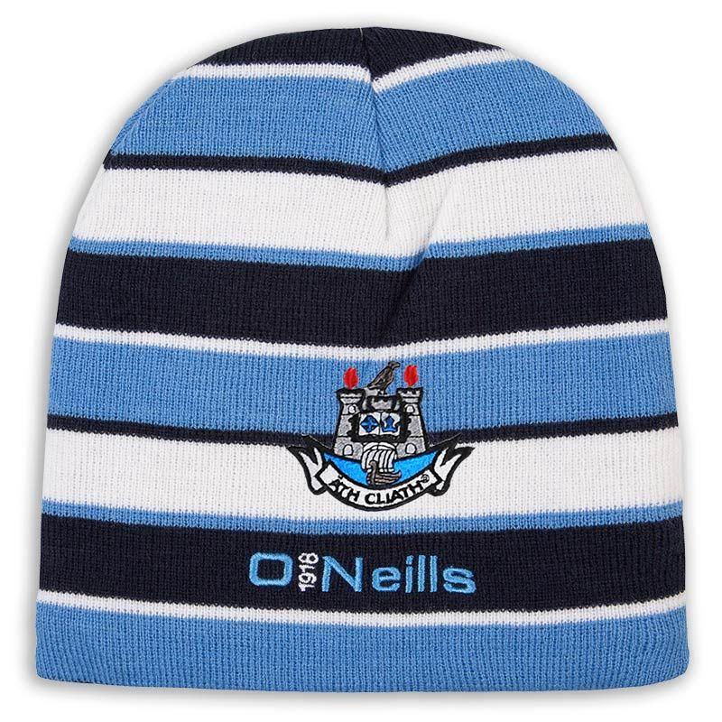 9d8bf6d8b3 Dublin GAA Beacon Beanie Hat (Marine Sky White)